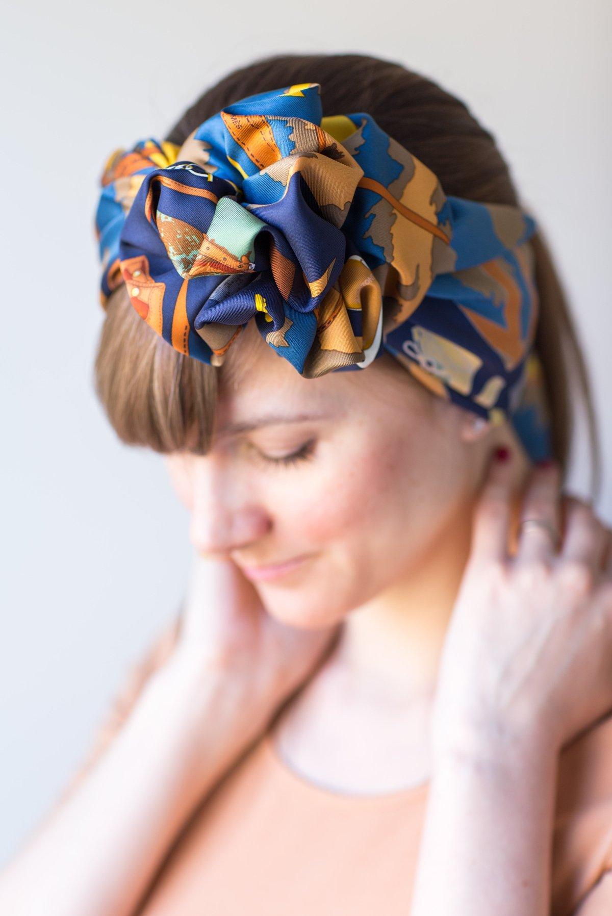 Monsieur et Madame II, Hermes, scarf, knots, headband, carre, Эрмес, платок, карре, Как красиво завязать платок, Hermes Schal