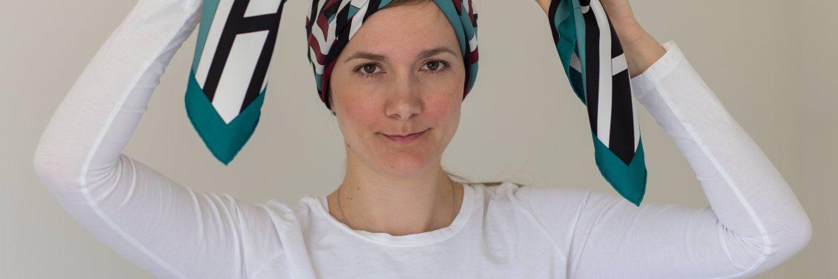 Hermes scarf, headband, carre cube, how-to, tutorial, Hermes Schal, эрмес, платок, карре, как красиво завязать платок