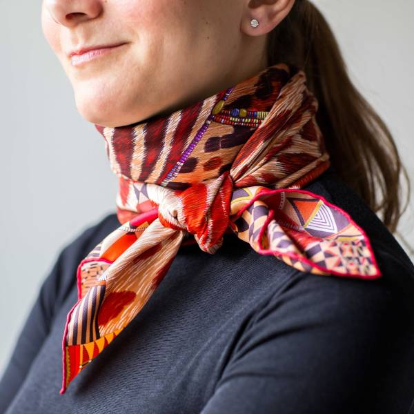 Hermes, Pelages et Camouflage, Aline Honore, how to wear a scarf, knots, knotting, tips, carre, Эрмес, платок, карре, Алин Онорэ, как красиво завязать платок