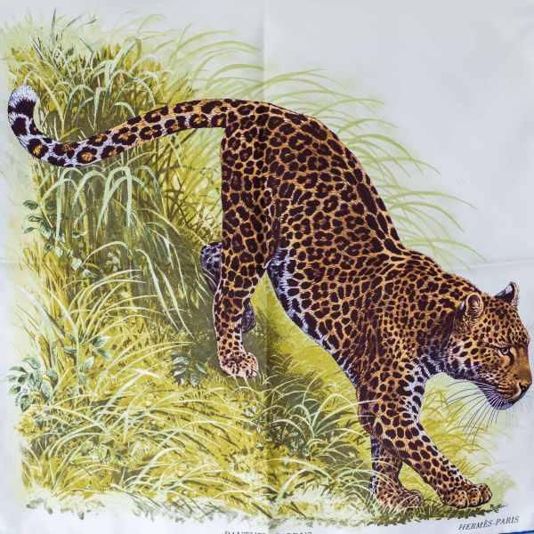 Hermes Panthera Pardus, Robert Dallet, carre, scarf, knotting, howtowearascarf, Эрмес, платок, карре, пантера пардус, как красиво завязать платок