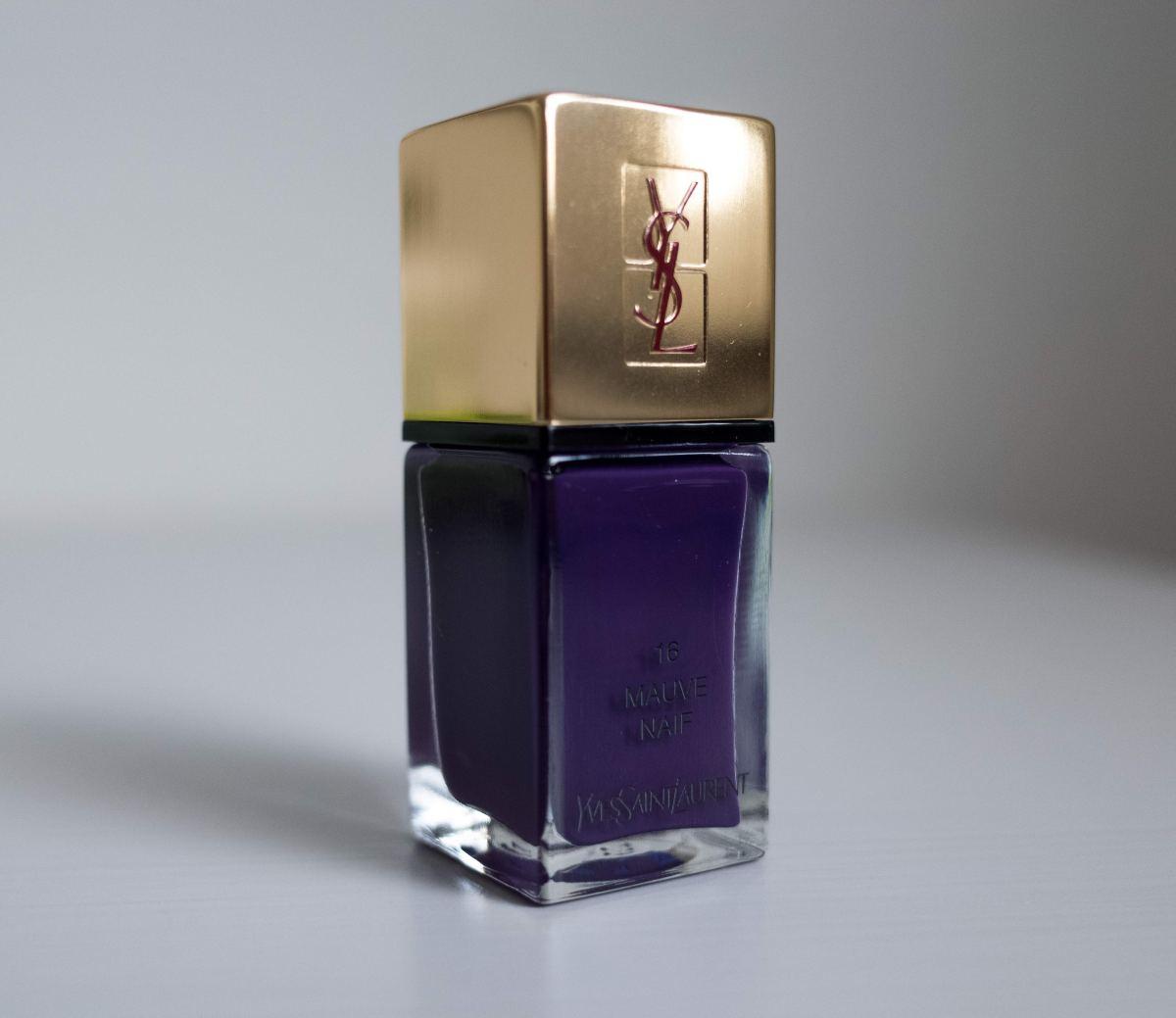 Elegant purple, mauve naif, yves sant laurent, ysl, nail polish, лак для ногтей