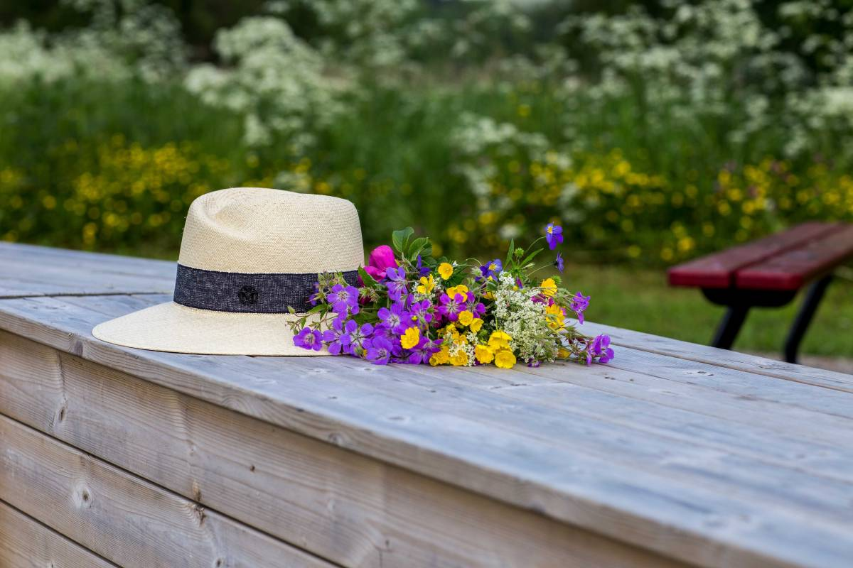 Maison Michel, Virginie, straw hat, wild flowers, шляпа Maison Michel, MM