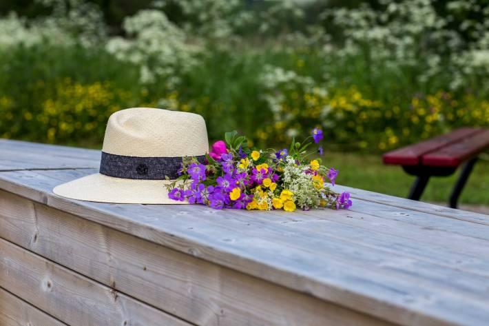 Maison Michel, Virginie, straw hat, wild flowers, шляпа Maison Michel, MM