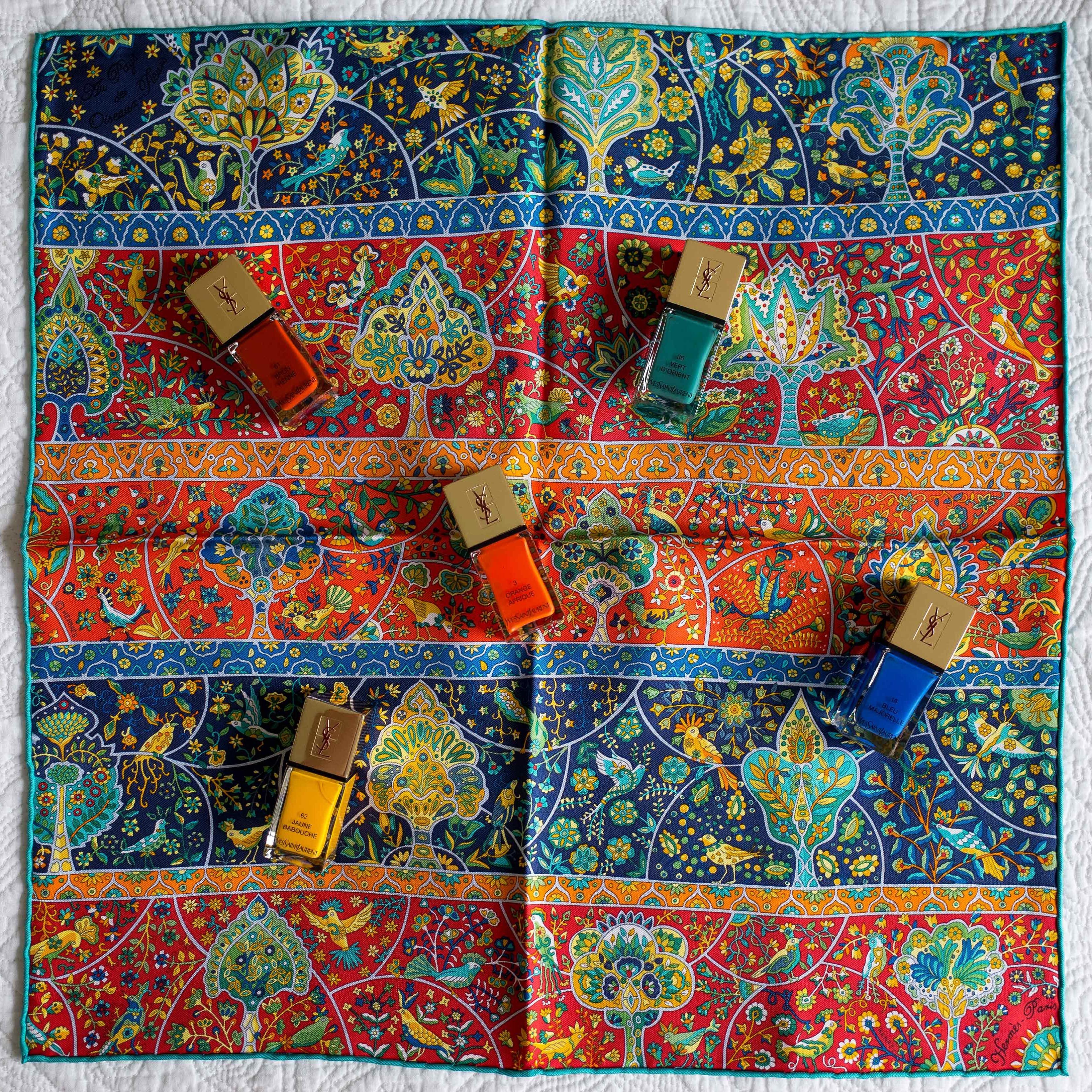 d6df915a7be9 order au pays des oiseaux fleurs hermes scarf gavroche pochette knot 27f6e  1b40d