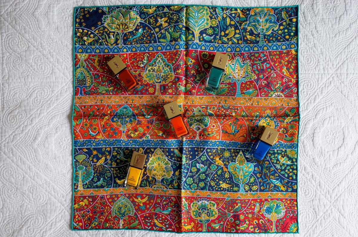 Au Pays des Oiseaux Fleurs, Hermes scarf, gavroche, pochette, knot, knotting, tutorial, hermes carre, Hermes Schal, эрмес, платок, карре, как красиво завязать платок, how to wear a scarf