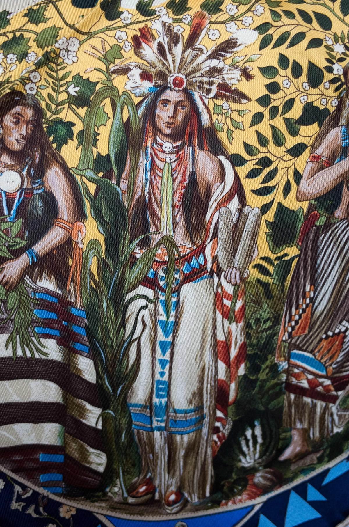 Mythologies des Hommes Rouges, Hermes scarf, Hermes carre, Hermes foulard