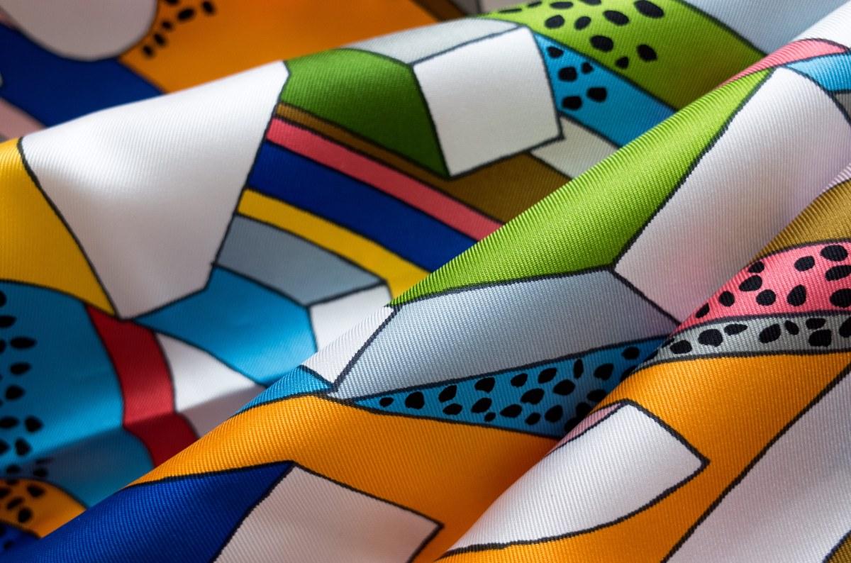 On a Summer Day, Nigel Peake, carre, knot, knotting, tutorial, hermes carre, Hermes Schal, эрмес, платок, карре, как красиво завязать платок, how to wear a scarf