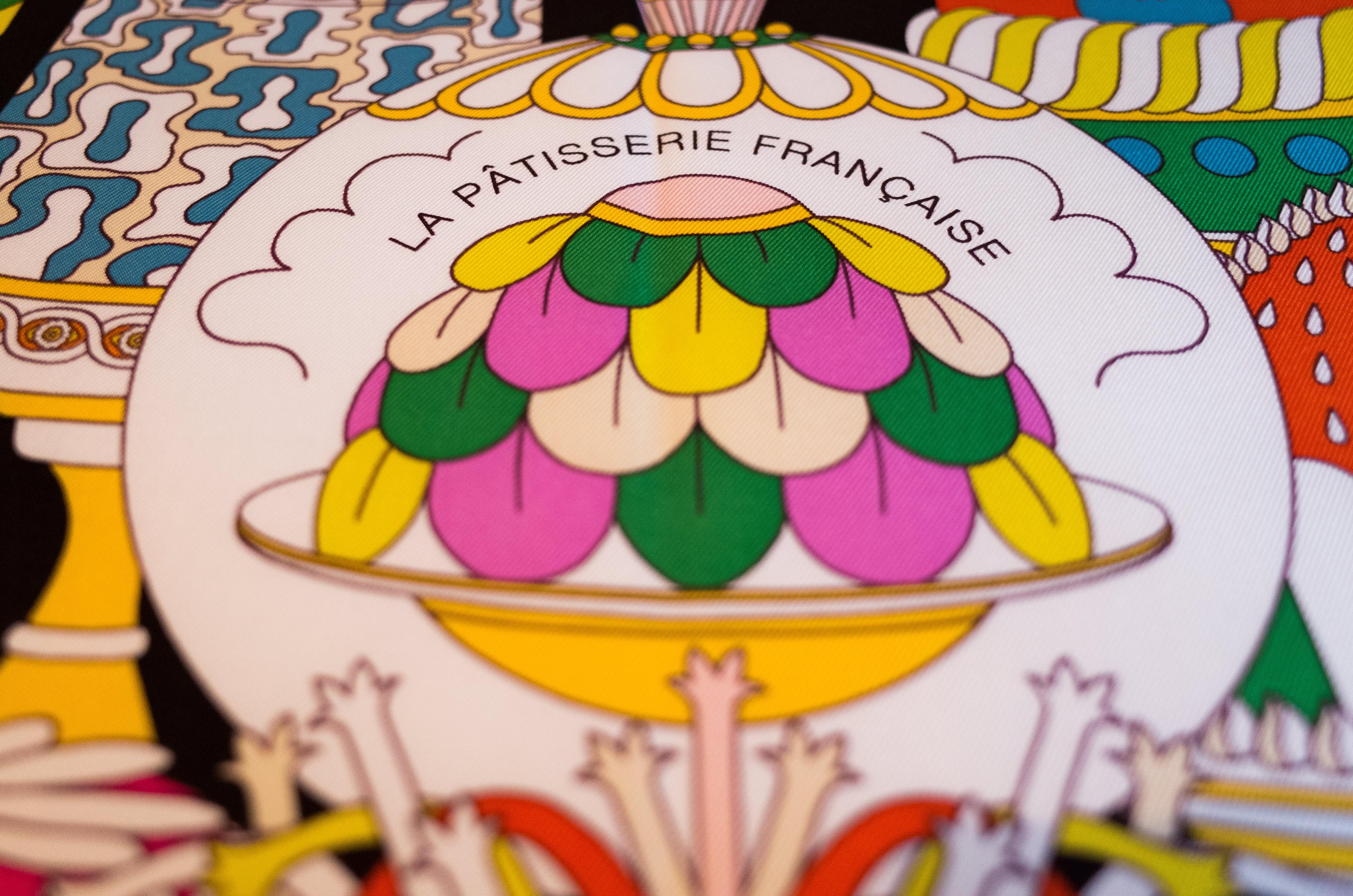 La Patisserie Francaise, hermes, hermes scarf, Pierre Marie, Hermes carre, how to wear an Hermes scarf